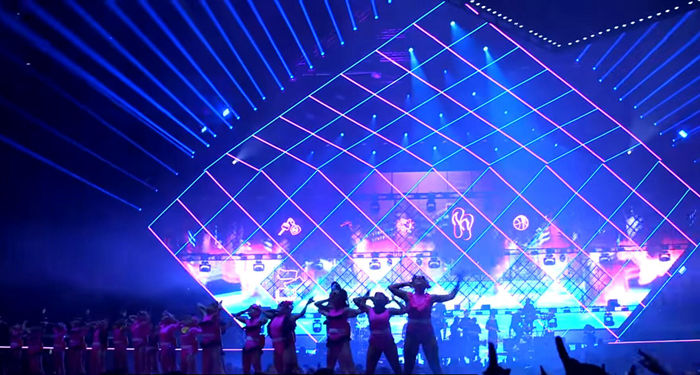 Karpe Diem Music Concert--Glux BAtn transparent LED screen project
