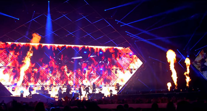 Karpe Diem Music Concert--Glux led BAtn transparent LED screen projects