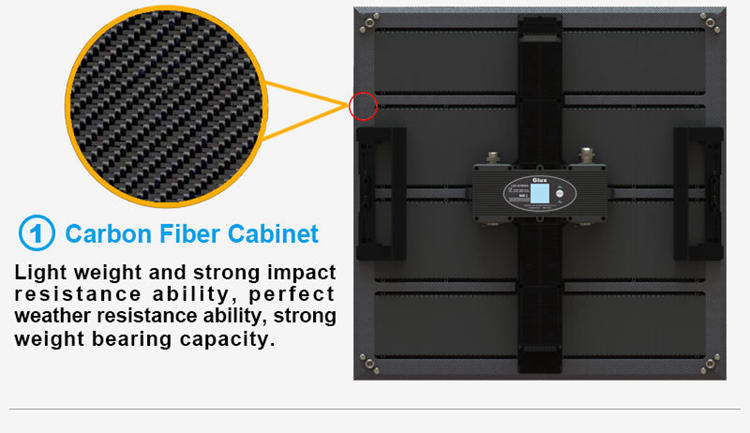 Glux P3 indoor LED display screen--carbon fiber cabinet