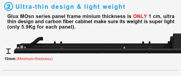Glux MOsn P5.2 full color LED display screen--ultra thin and light weight