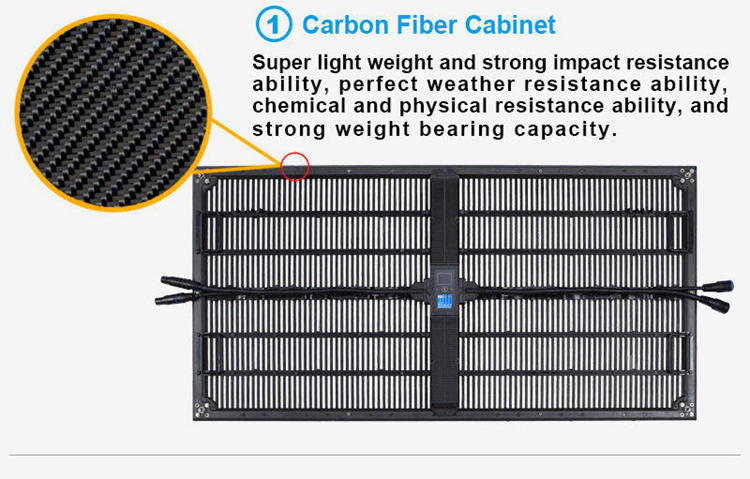 Glux P10.4mm outdoor rental LED screen--carbon fiber cabinet