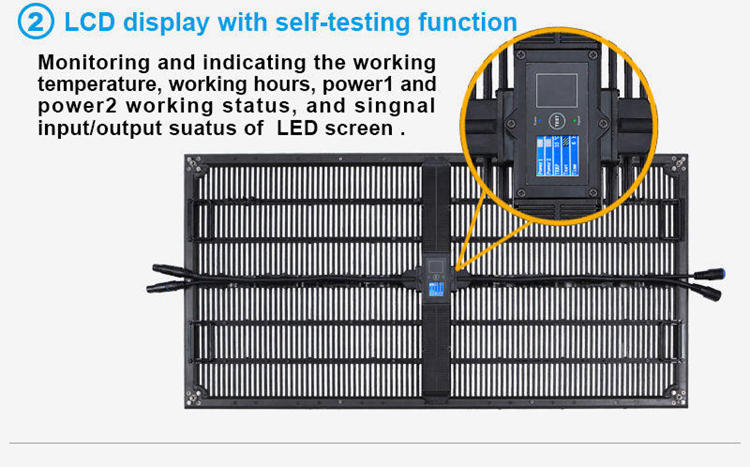 Glux P10 rental LED video wall--LED display with self-test function
