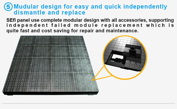 Glux LED stage floor LED display rental--modular design