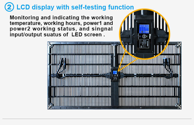 Glux MOtn P10.4mm indoor rental LED display--LED display with self-test function