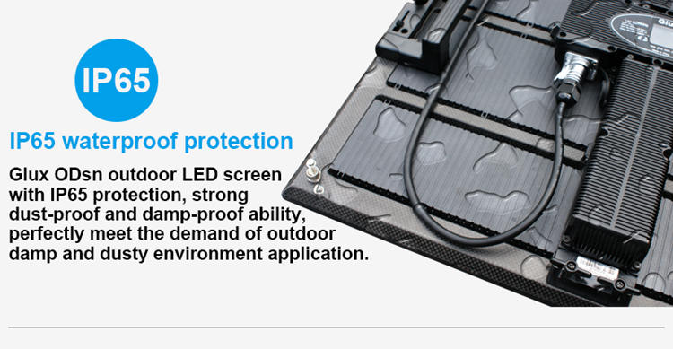 Glux LED P7.8mm LED display screen--IP65 protection